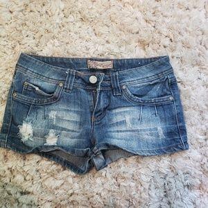 Wallflower distressed shorts
